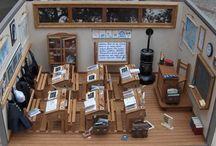 Miniature World / Mini houses, doll-houses, furniture, mini printables and foods.