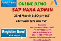 SAP HANA Admin Online LIVE FREE DEMO from Acutesoft with Real Time Experts