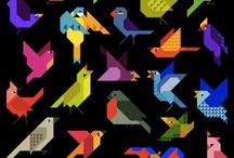 origami ptaki