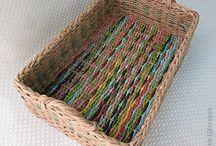 Плетение посуды и других вещей / Создание посуды, украшений и других вещей в домашних условиях из бумажных трубочек.