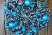 Brown & Turquoise Wreath
