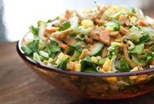 Salads & Dressings / Salads, raw and cooked.  Salad dressings.