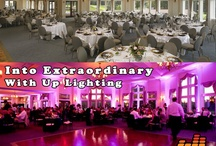 Wedding Up Lighting / Wedding reception up lighting. Turn ordinary into extraordinary.