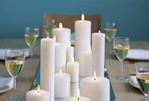 Table arrangements/flowers and candles