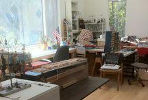 My Studio / interior views of my studio