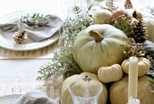 Thanksgiving Decorations / Thanksgiving Decorations, entertaining ideas, recipes, and decor. / by Sarah Sarna