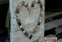 wooden wall art rustic