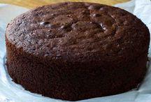 pastel de chocolate esponjoso.