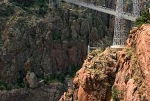 Hanging Bridges / This board is about bridges that have been built straddle gorges and bodies of water.