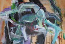 Green lines 1 / Acrylic: 100x80cm