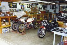 Garage atelier motos