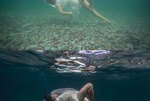Onderwater fotoshoot ideeën