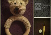 Crochet Baby Rattle / Hæklet Baby Rangle