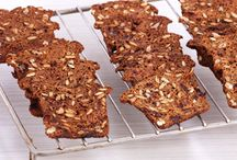 Pumpkin seeds and date spices cracker.