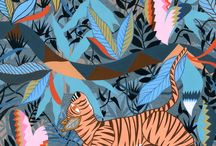 Animal Prints / Animal themed art prints for your home and interiors. Screen prints and giclée prints by UK based artists and designers:  Tiger - cat - wolf - hare - rabbit - bear - dog - bull terrier - boxer - french bulldog - poodle - fish - deer - pug - frenchie - pig - bunny - hippo - elephant - fox - monkey - sheep - squirrel - whale - beetle - octopus
