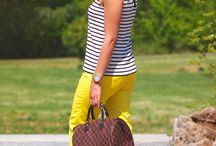 Hello-yellow!-striped-top-with-yellow-pants / I believe in buying pieces that can easily go from office to casual or sometimes office to evening and this look does it perfectly for me. I work in DC so I usually have a tote to carry my heels and somedays yes I have been guilty of throwing my heels in the Louis Vuitton as well. I am not very careful with my bags because I feel they have a purpose which to help me carry my belongings. http://zunera-serena.com/yellow/