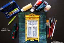 woodart miniatures / #Russian #window #vintage #handmade #gulipeksanat #creavite #architecture #russianart #painting #woodart #style #mulberry