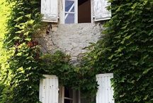 French shutters / Can't decide what colour to paint our shutters on the French house.