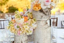 Birch tree flower arrangements