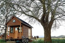 """Tiny & Other Non-Traditional Homes / The so-called """"tiny"""" homes, modular homes, manufactured housing, cabins, systems-built, auxiliary dwelling units (ADU), kits, and other non-traditional options for safe, accessible, and comfortable living beyond the conventional single-family or apartment home."""