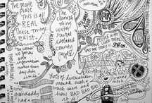 sketchnoting / Doodling, sketchnoting, words as images.