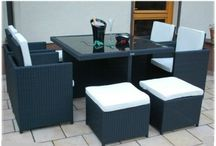 Garden Dining Set Coffee Table Chairs Stool Space Saver Patio Furniture Cushions