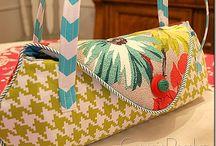 Barkcloth Handbags / Colorful vintage barkcloth handbags. Visit my blog  my   http://cdiannezweig.blogspot.com/ and my site http://iantiqueonline.ning.com/