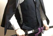 スーツ 軍服 刀 装備