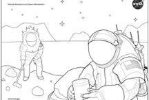 Coloring Pages - Space, Science & STEM (For Kids & Adults) / A mixture of space, science, and other STEM-related designs for coloring by young and old alike. // Also check out my Coloring Pages - Nature, Abstract & More!