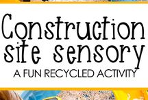 Construction Themed Kid Activities, Crafts, Toys, and Party Ideas / Construction themed games, toys, party ideas, activity kits, gifts, and fun stuff for kids! Bulldozers, excavators, dirt, building, blocks, hard hats, etc. for children!