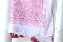 block print scarves