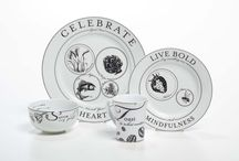 Celebrate: Bistro-Inspired Portion Control Dinnerware / Our bistro-inspired dinnerware is the perfect addition to your healthy lifestyle. Perfectly-portioned using VisualQs and subtle design, Celebrate provides inspiring and motivational words and phrases to positively influence people as they eat.