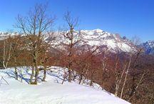 Prospeccion Valle de Frañana con raquetas de nieve