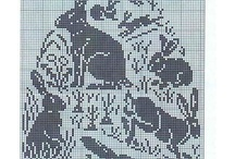filet crochet pâques