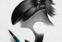 рисунок волос