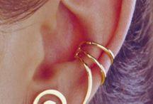ear cuffs, earings, necklaces