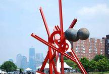 Inspirations - Mark di Suvero / The sculptures of Mark di Suvero.