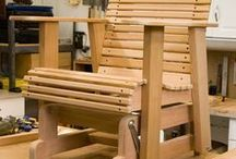 Glider deck chair