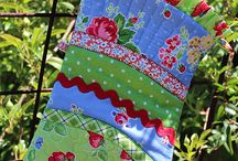 pam kitty morning fabric projects / by susan sobon/