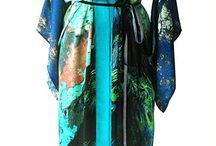 Woven Wonders Kimonos / Kimono's printed with digital prints, designed by Irene van Vliet for woven wonders.  The digital prints are inspired by nature.