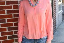 Coral and Mint Outfits / Mint and coral make the perfect color combo for any women's fashion!