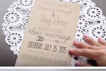 DIY Wedding Ideas / Decorations, invitations, flowers, gifts, etc..