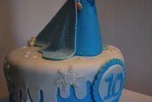 Frozen / Unas de mis tartas de Frozen