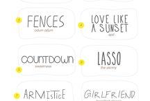 Fonts / Design