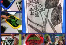 Art:  Printmaking with kids