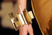 Statement gold jewelry