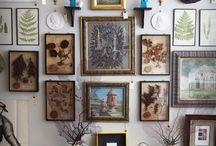 Декор стен картинами/открытками