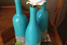 Tirkisové fľaše striborné