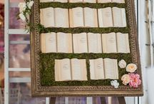 Tableau de mariage, escort card & placecard