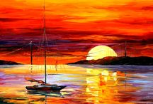 Pinturas Fascinantes com o Tema: Pôr do Sol